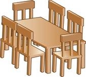 Furniture: Table & Chairs