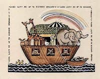 Noah's Ark loaded with Animals