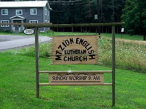 Mount Zion sign